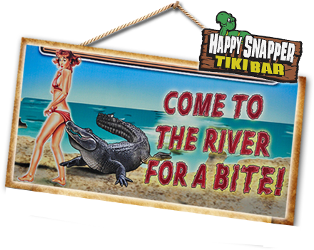 The Swamp House River Front Grill and the Happy Snapper Tiki Bar